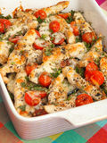 Italian chicken bake with mozzarella Stock Image