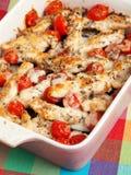 Italian chicken bake with mozzarella Stock Photos