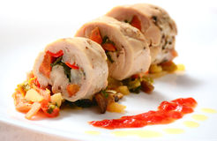 Italian Chicken Breast Rolls Stock Image