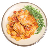 Italian Chicken Cacciatore with Gnocchi stock image