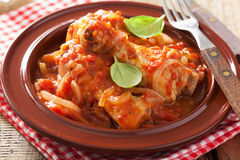 Italian chicken cacciatore Stock Photography