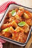 Italian chicken cacciatore Stock Images
