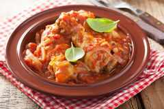 Italian chicken cacciatore Royalty Free Stock Photo