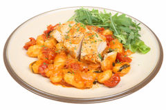 Italian Chicken Casserole with Gnocchi Royalty Free Stock Photos