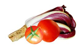 Italian chicory and tomatoes Royalty Free Stock Images
