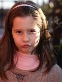 Italian child angry with a wool sweater Stock Images