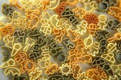 Italian children pasta texture Royalty Free Stock Image