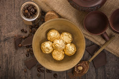 Italian chocolate sweets with decoration Royalty Free Stock Images