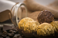 Italian chocolate sweets with decoration Royalty Free Stock Photo