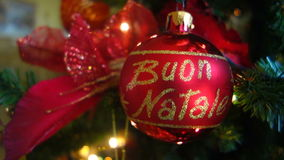 Italian christmas ball stock footage