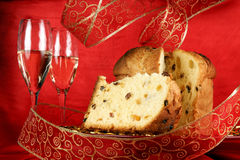 Italian Christmas composition in red Stock Image