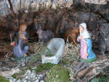 Italian Christmas crib Royalty Free Stock Photos