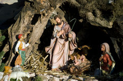 Italian Christmas crib stock image