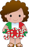 Italian Christmas Girl Royalty Free Stock Photography