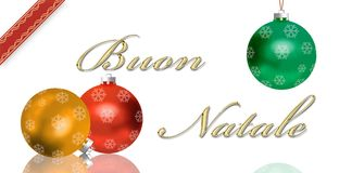 Italian Christmas Greeting Card Stock Photos