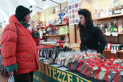 Italian Christmas Market Royalty Free Stock Images