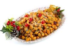 Italian Christmas stuffoli honey balls Royalty Free Stock Photo