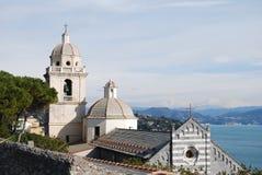Italian church. St. lorenzo's church at portovenere (italy Royalty Free Stock Photography