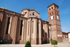 Italian church in asti. Beautiful italian church in asti Royalty Free Stock Images