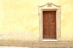 Italian church door Royalty Free Stock Images