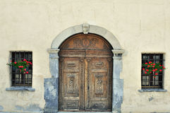 Italian church entrance Stock Photography