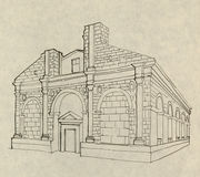 Italian church in Rimini Royalty Free Stock Images