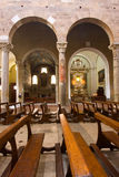 Italian church, Romanesque style. Royalty Free Stock Image