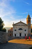 Italian church on sunset Royalty Free Stock Photography