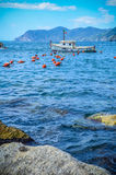 Italian Cinque Terre Fishing Boat Royalty Free Stock Images