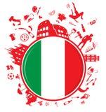 Italian circle background vector illustration