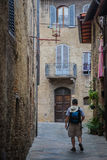 Italian Cities - San Gimignano. San Gimignano is a small walled medieval hill town in the province of Siena, Tuscany, north-central Italy. Known as the Town of Stock Photos