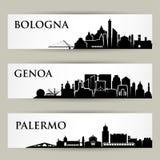Italian cities - skylines -  illustration. Italian cities - skylines - Europe cityscape Stock Images