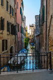 Italian cities - Venice. Venice is a city in northeastern Italy sited on a group of 118 small islands separated by canals and linked by bridges. It is located in stock photo