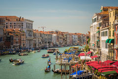 Italian cities - Venice. Venice is a city in northeastern Italy sited on a group of 118 small islands separated by canals and linked by bridges. It is located in Royalty Free Stock Photo