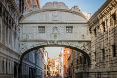Italian cities - Venice. Venice is a city in northeastern Italy sited on a group of 118 small islands separated by canals and linked by bridges. It is located in stock image