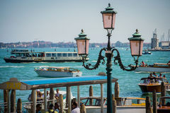Italian cities - Venice. Venice is a city in northeastern Italy sited on a group of 118 small islands separated by canals and linked by bridges. It is located in royalty free stock image