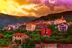 Italian City. Bird's Eye View on the Roofs of the Italian City Stock Photography