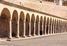 Italian city of Assisi, monastery of st  Francesco Stock Image