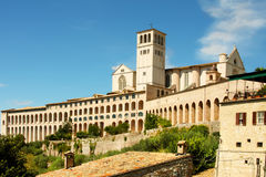 Italian city Assisi, monastery of st  Francesco Stock Photo