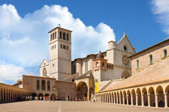 Italian city of Assisi, monastery of st  Francesco Royalty Free Stock Photography