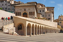 Italian city of Assisi, street Royalty Free Stock Photo