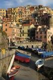 Italian City with Boats Royalty Free Stock Photography
