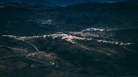 Carapelle Calvisio. The Italian city Carapelle Calvisio from the mountaintop fortress Rocca Calascio Stock Images