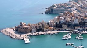 Italian city of Castellammare del golfo Stock Photo