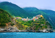 Italian city on coastline Royalty Free Stock Photography