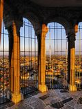 Cremona, view from cathedral tower, Lombardy, Italy Stock Image