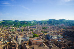 Italian City with Mountains Stock Photo