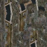 Italian city. Oil painting seamless pattern. Old city stock photography