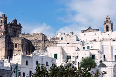 Italian city: Ostuni view. Ostuni - A landscape of Ostuni, the White city Royalty Free Stock Images