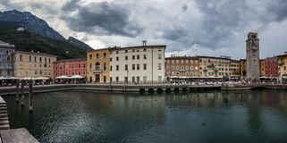 Italian city- Riva del Garda-Panorama. Riva del Garda is a town and comune in the northern Italian province of Trento, located at the north-western corner of Royalty Free Stock Photos